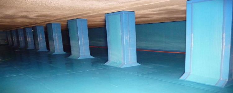für Betonschutzplatten / Auskleidungen